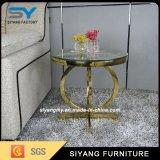 호화스러운 디자인 황금 거실 가구 측 금속 테이블