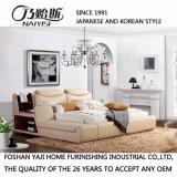 寝室の使用(FB8153)のための淡黄色ベージュカラー革ベッド