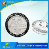 제조자는 주문을 받아서 만들었다 연약한 사기질 광택이 없는 중국 (XF-CO06)에 있는 은에 의하여 도금된 도전 동전을