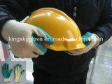 10g Ruwe de Voering van de polyester beëindigt de Latex Met een laag bedekte Handschoen van het Werk