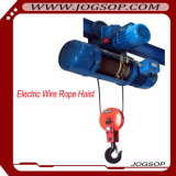 1 톤 윈치 기중기 호이스트를 당기는 트롤리 건축 케이블을%s 가진 전기 철사 밧줄 모터 호이스트