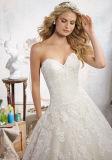 2017 a - линия платья венчания Wm1708 поезда шнурка Bridal