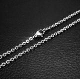 Acessórios de moda Lobstet Chain Necklace 316L Stainless Steel Silver Color