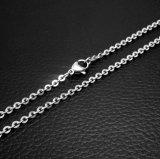 Couleur à chaînes d'argent de l'acier inoxydable 316L de Lobstet de collier d'accessoires de mode