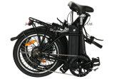 Bicicleta eléctrica plegable ligera de la batería de litio de 20 pulgadas