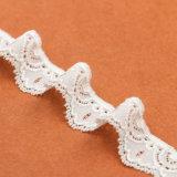 Nuovo merletto della vite prigioniera del metallo dell'oro di disegno con il testo fisso del merletto del cotone