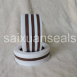 Arandelas de goma negras de silicón de NBR FKM PTFE/sello de embalaje Vee hidráulico