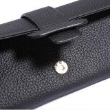 Signora Clutch Long Wallet della borsa di marca dei raccoglitori del cuoio genuino
