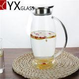 2L大きいボリューム冷水の水差しまたは冷水ガラスJar/ODM OEMの冷たい茶ジュースの乳白ガラスの瓶