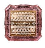 Розовый прозрачный Acrylic составляет зеркало BPS031 квадрата проверкы L'oreal зеркала косметическое