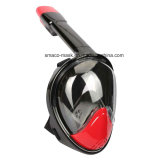 Cer RoHS FDA Antides nebel-Red+Black volles Gesichtsnorkel-Tauchens-Schablonen-trockene des Tauchens-M2098g