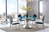 Neuer Entwurfs-Mitte-runder Glastisch mit Mustern