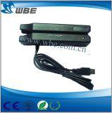Leitor de cartão magnético manual do furto RS232/USB