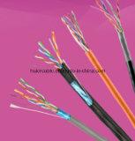 4개의 꼬이는 쌍 (구리 지휘자)를 가진 ETL CAT6 네트워킹 케이블