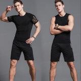 Desgaste del deporte del Tracksuit de los pantalones cortos de los tanques de la camisa de la compresión de los hombres