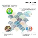 Mosaico de vidro em forma de leque da telha do escudo exterior de Backsplash Angeles da cozinha