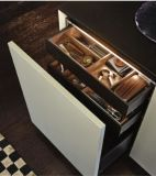 [بريش] خشبيّة يرصّ طلاء لّك زرقاء مطبخ قاعدة خزانة