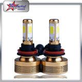 H7 PANNOCCHIA luminosa eccellente del faro 60W dell'automobile LED con l'indicatore luminoso dell'automobile LED del ventilatore per il faro automatico dei pezzi di ricambio H4