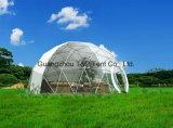 Barraca Geodesic da barraca da abóbada da meia esfera de Dia5-30m com tela do PVC