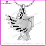 Urna Pendant di Cremastion dell'acciaio inossidabile della collana della colomba di pace per il supporto del Keepsake delle ceneri (IJD9496)