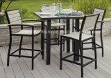 고품질 옥외 정원 상업적인 가구 브라운 팔걸이를 가진 알루미늄 현대 바 의자