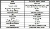 Eisen-Phosphatsolarstraßenlaterne-Batterie des Lithium-24V200ah