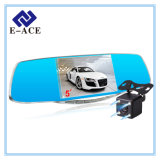 5 зеркало автомобиля DVR экрана IPS дюйма с широкоформатным