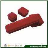 Caixa de jóia plástica Tornada ôca-para fora vermelha clássica