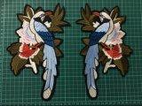 Doubles connexion de broderie de connexions brodée de vêtement d'oiseau par accessoires neufs