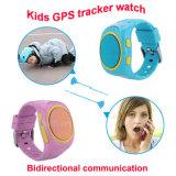 GPS van de Jonge geitjes van de manier het Horloge van de Drijver met Pedometer voor Persoon (D12)