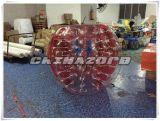 Bola inflable de la burbuja del color rojo impresa con insignia modificada para requisitos particulares