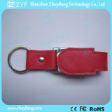 2017 New Design Leather Keychain USB Flash Drive (ZYF1424)