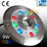 IP68 RGB LED bajo el agua fuente de luz con Ronda (JP94293)