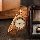 [أدم/وم] نمو بيع بالجملة خشبيّة [وريستوتش] مرو رجال ساعة خيزرانيّ خشبيّة