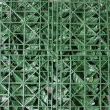 Seto artificial de los setos de la cerca plástica verde al aire libre del jardín