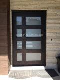 Quadratische oberste einfacher Entwurfs-bearbeitetes Eisen-einzelne Tür mit bereiftem Glas