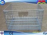 Contenitore/gabbia/memoria della maglia del filo di acciaio per il cantiere (FLM-K-003)