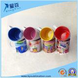 Taza de cerámica del color de la sublimación
