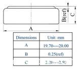 Batteria di litio calda dell'allarme 3V dell'automobile di vendita (CR2025)