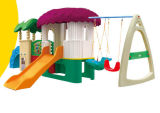 Diapositiva plástica Playsets (M11-09201) de los cabritos del patio de la combinación