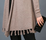 Fashion Cashmere Blend Sweater 17brpv099 de señora