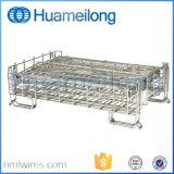 Cages en acier de rouleau d'emmagasinage de matériel empilable industriel de pliage