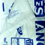 Белая хозяйственная сумка тельняшки PE с печатание