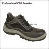 倍密度PUの注入のスムーズな処置の革安全靴