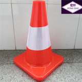 Fluorescente Solid Red Road Safety Cono del tráfico