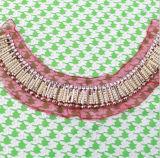 水晶ビーズパッチのカラー縫の装飾的な首のトリム