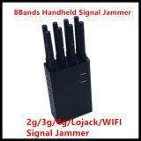 Emittente di disturbo portatile tenuta in mano potente del segnale delle 8 fasce