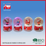 La Navidad Water Globe con Blowing Snow LED Lights Papá Noel