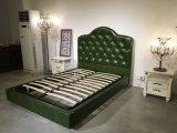 2016 модная роскошная кожаный кровать, кровать гостиницы (LB006)