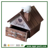 Decoratitive Vogel-Haus-hölzerne Spieluhr für Geschenk